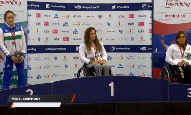 Loida Zabala sube a lo más alto del podio en Hungría