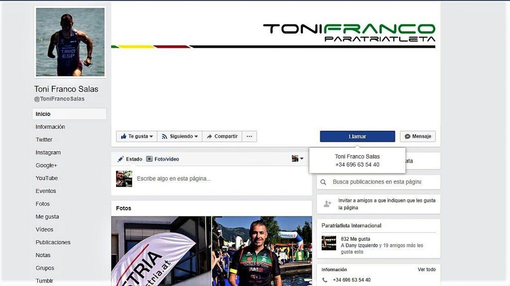 Facebook Toni Franco