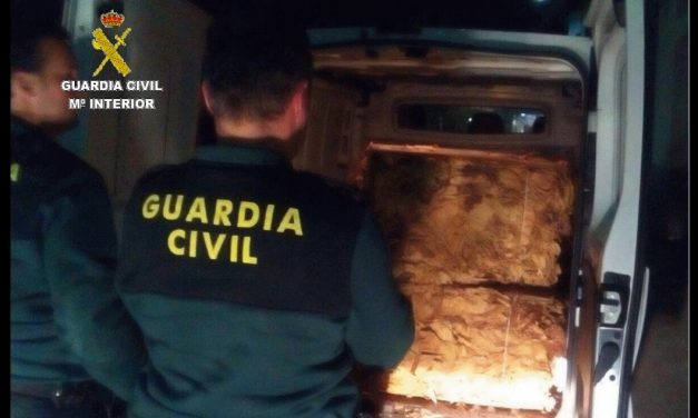 La Guardia Civil aprehende en La Vera 470 K. de tabaco en rama
