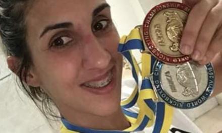 Lourdes León se proclama Campeona Mundial Iska de Kick Boxing en Kiev