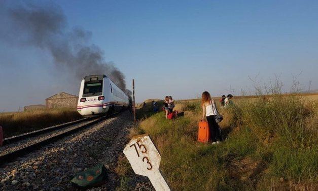 Primer incendio en un tren Madrid-Extremadura del verano 2018, por Milana Bonita