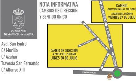 Navalmoral cambia el sentido de la circulación del tráfico en varias calles