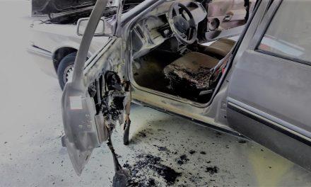 Se incendia un vehículo en los aparcamientos del Hospital Campo Arañuelo