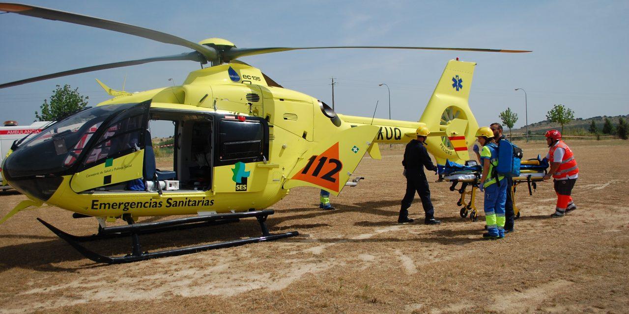Un herido grave en La Vera tras sufrir un accidente deportivo