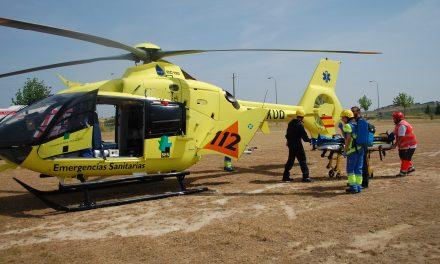 Varón herido con quemaduras producidas en un accidente laboral en GALVEXSA, Casatejada
