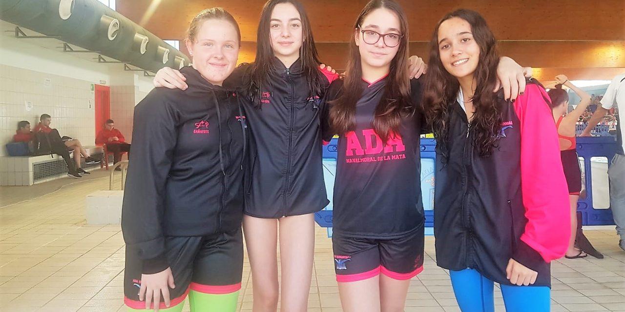 Cuatro nadadoras de ADA en el Cto. de Extremadura Infantil y Junior