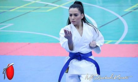 La karateca almaraceña Lydia Curiel Mateo, medalla de plata en Madrid