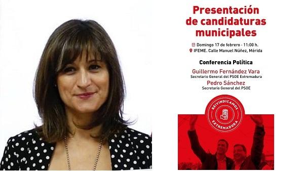Presentación de Raquel Medina como candidata del PSOE a la alcaldía de Navalmoral