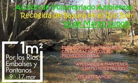 """""""Recogida de Basura en el Río Ibor"""" organizada por el C.I. Cueva Castañar"""