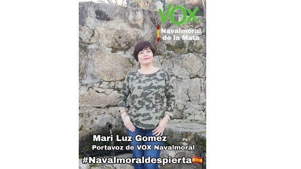 VOX Navalmoral nombra a Mª Luz Gómez González nueva portavoz