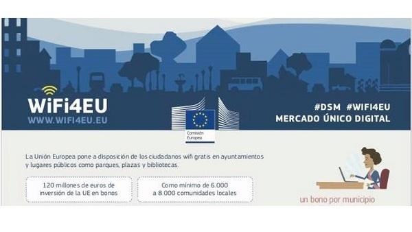 La ciudadanía dispondrá de Wifi gratis en los Ayuntamientos y lugares públicos mediante Wifi4EU
