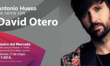 David Otero actúa esta noche en el Teatro del Mercado de Navalmoral