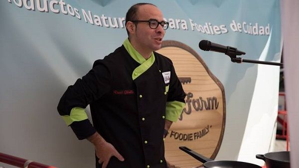 David Gibello, en la VII Feria de la Tortilla de Patatas de Villanueva de la Serena