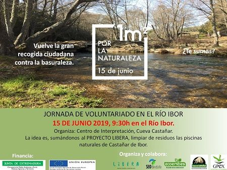 Castañar repite la gran recogida ciudadana por la basuraleza en el río Ibor