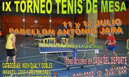 Navalmoral celebra el IX Torneo de Tenis de Mesa