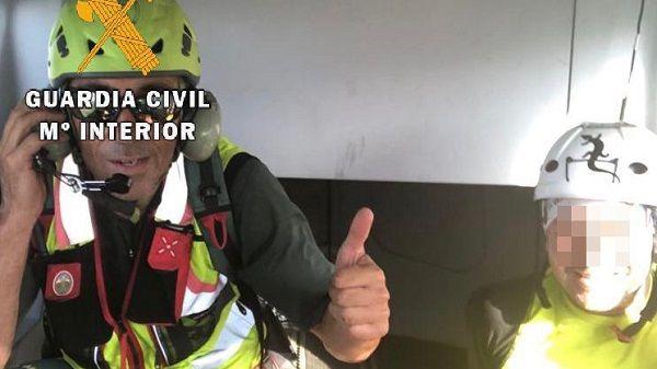La G. Civil rescata a un barranquista herido en la Garganta de la Hoz