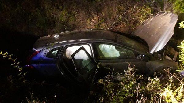 Mujer herida grave en accidente de tráfico al salirse de la vía en Retamosa