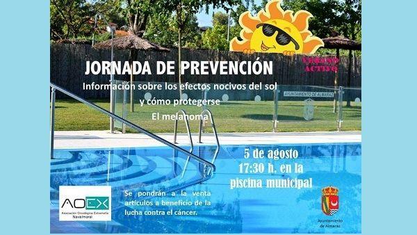 La piscina de Almaraz acogerá una Jornada de Prevención sobre el cáncer de piel