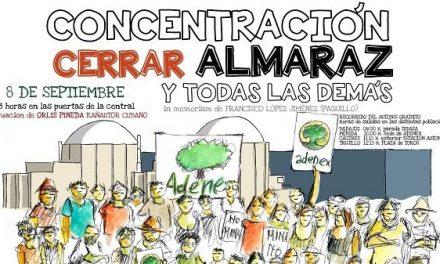 Adenex y la Plataforma Cerrar Almaraz llevarán a cabo mañana, 8 de sepbre, la concentración antinuclear 2019