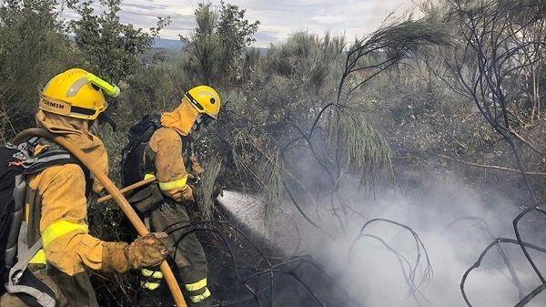 Fuego en Garganta la Olla, un nuevo incendio forestal en La Vera