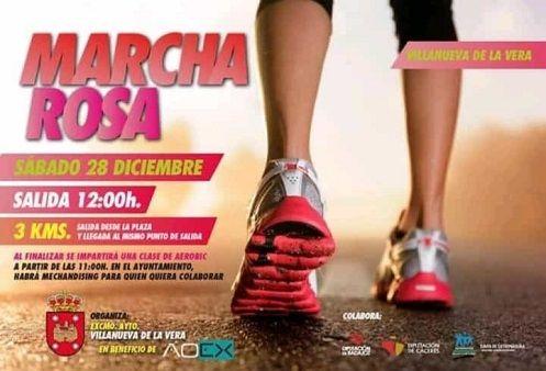 Villanueva de la Vera organiza una Marcha Rosa en favor de AOEX