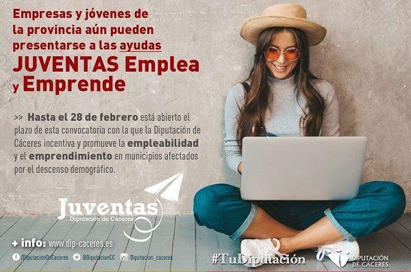 Empresas y jóvenes de la provincia aún pueden presentarse a las ayudas JUVENTAS Emplea y Emprende