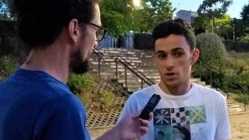Jayro entrevistado árbitro