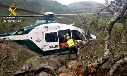 Rescatan a un varón de 68 años desaparecido en Guijo de Santa Bárbara