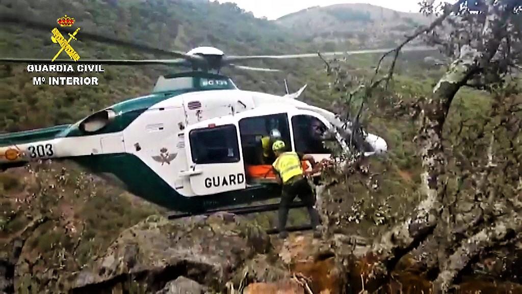 El 112 de Extremadura coordina un rescate complicado en el Charco Zarco de Candeleda
