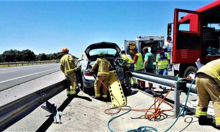 Una mujer resulta herida en un accidente en Toril
