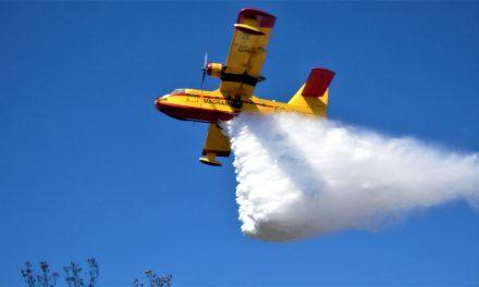 Declarado un incendio forestal en las Villuercas, zona del Valle del Viejas