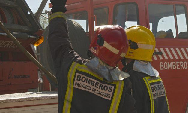 Arde un secadero en Jaraíz
