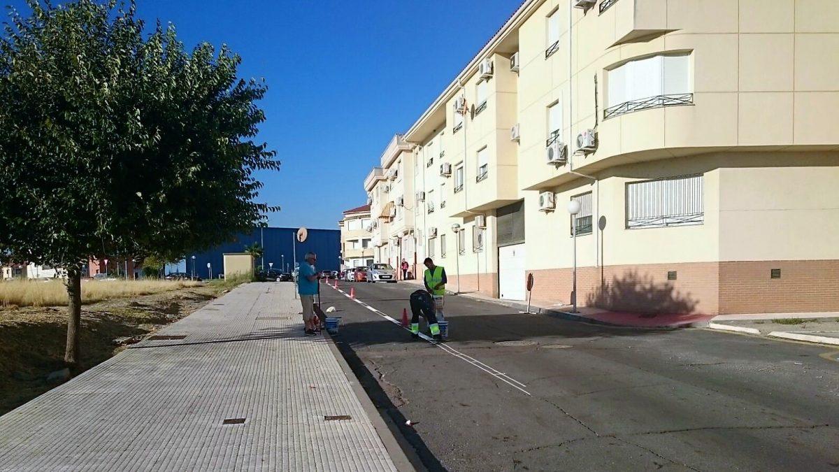 pintada calle avila regulación tráfico 2