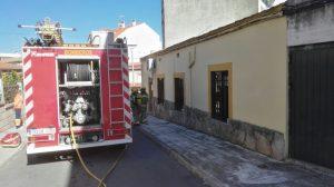 Incendio vivienda bomberos