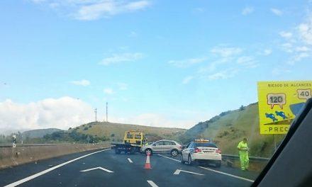 Accidente entre dos vehículos en las inmediaciones de Romangordo en la A5