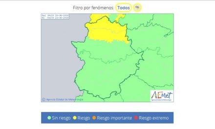 Alerta de nivel amarillo por tormentas en todo el norte de Cáceres