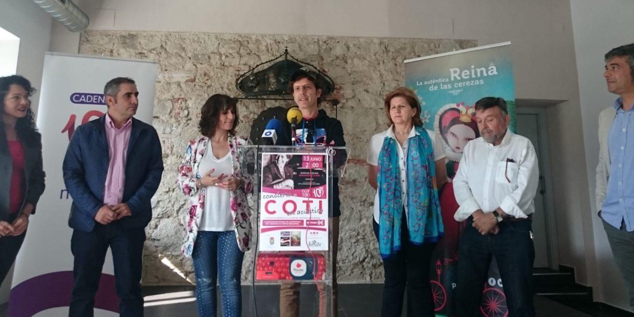 Coti presenta en Navalmoral un concierto a beneficio de Cáritas