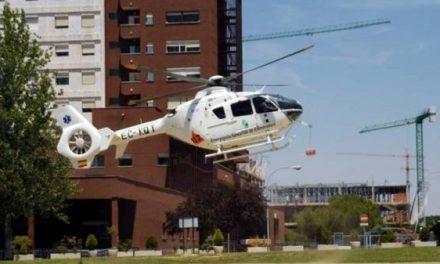 Un helicóptero traslada de urgencia a Badajoz a un alumno del IES San Martín de Talayuela