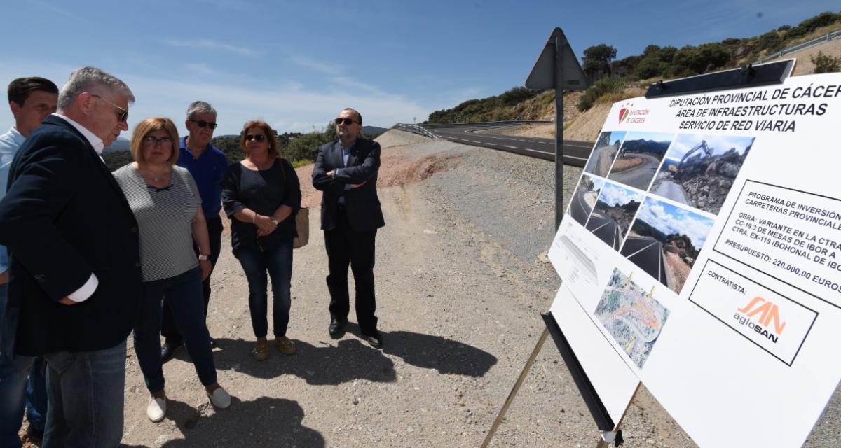 Finalizan las obras del nuevo trazado de la carretera de Mesas a Bohonal tras los desprendimientos
