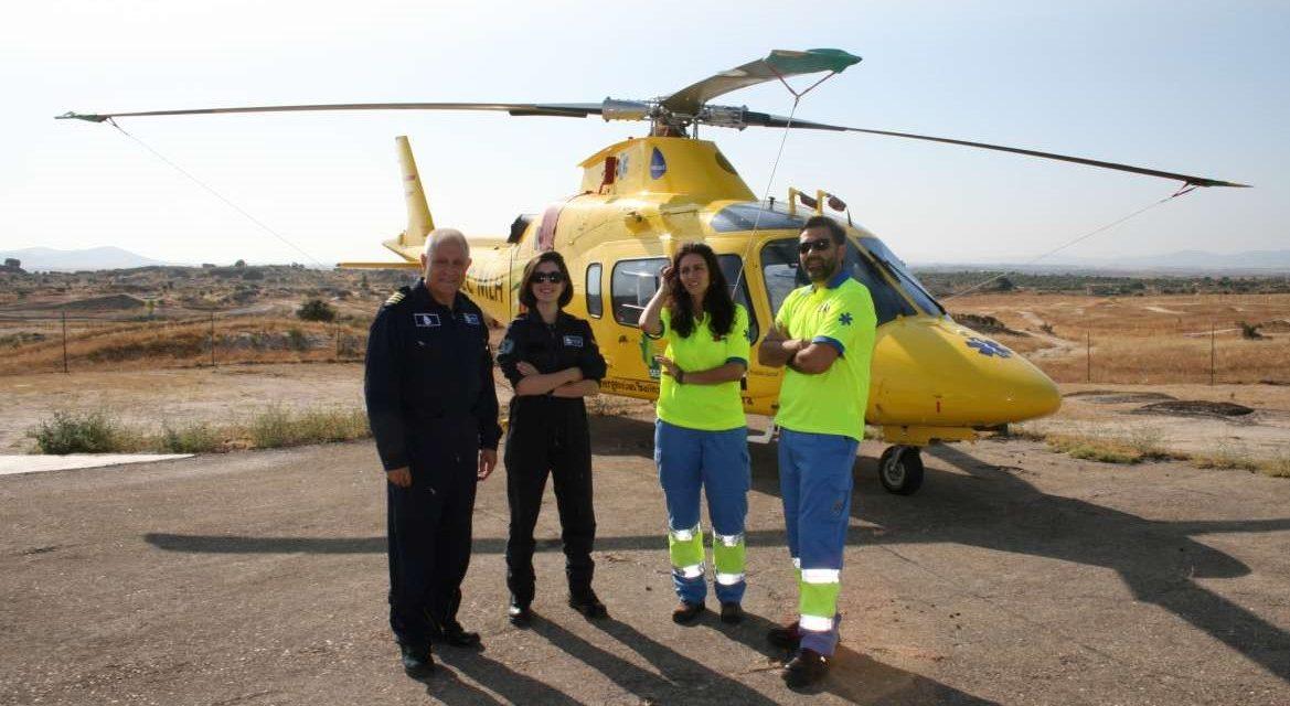Dos nuevos helicópteros del 112 para la sanidad extremeña