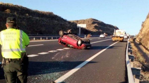Dos heridos por accidente de tráfico en la A5 a la altura de Navalmoral