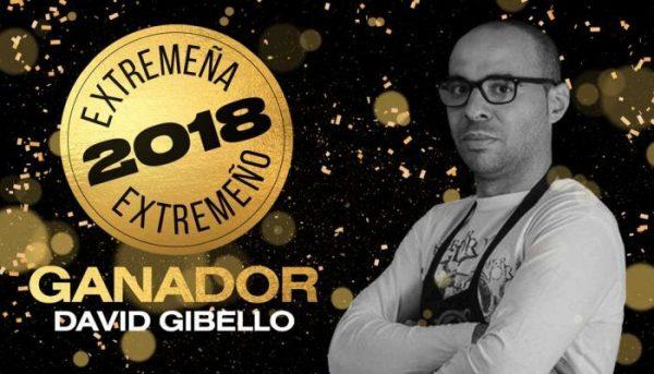 El cocinero moralo David Gibello recibe el premio Extremeño del Año 2018