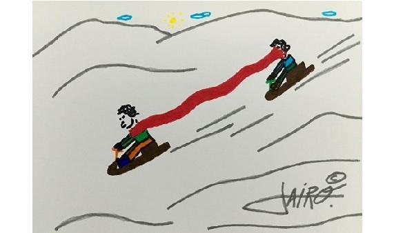 En la nieve – Las Viñetas de Jairo Jiménez