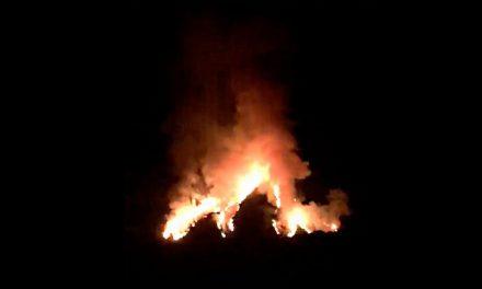 La Sierra de Guijo de Santa Bárbara vuelve a arder