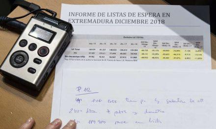 Las listas de espera en la sanidad extremeña vuelven a reducirse durante el segundo semestre de 2018