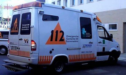 Mujer de 45 años herida en un accidente de tráfico en Torremenga