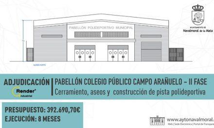 Navalmoral informa sobre las obras previstas en la Nave Municipal y la pista del CEIP C. Arañuelo
