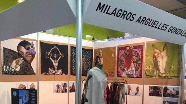 La diseñadora morala Milagros Argüelles, en el XXV Salón Internacional de la Moda Flamenca, SIMOF