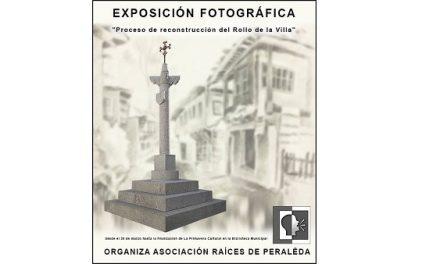 Exposicion fotográfica sobre la reconstrucción del Rollo en Peraleda de la Mata