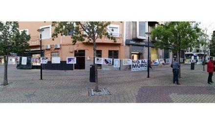 Estudiantes de ESO en Tiétar instalan en el Jardincillo moralo su exposición de dibujos #NOALMURO